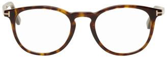 Tom Ford Tortoiseshell Soft Round Glasses