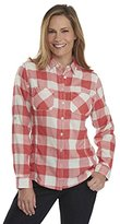 Woolrich Women's Conundrum Double Cloth Long Sleeve Shirt