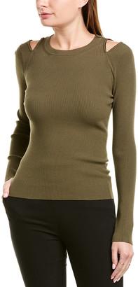 Bailey 44 Zip-Shoulder Sweater