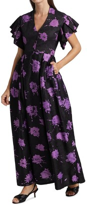 Busayo Dee V-Neck Maxi Dress