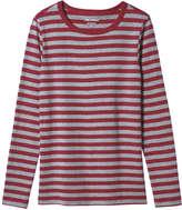 Joe Fresh Women's Long Sleeve Stripe Tee, Black (Size XL)