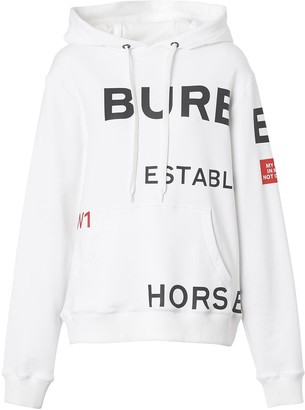 Burberry Horseferry print oversized hoodie
