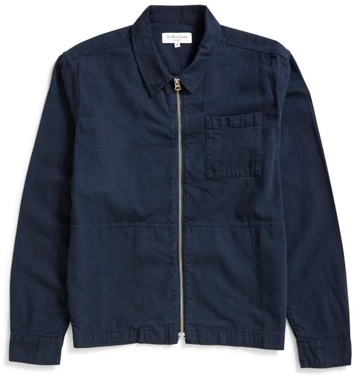 YMC Bowie Zip Shirt Navy