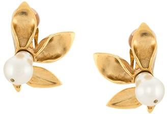 Oscar de la Renta Flower Pearl earrings