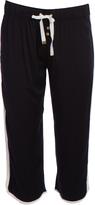 Juicy Couture Black Side-Panel Crop Pants