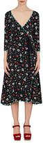 Marc Jacobs Women's Floral-Print Silk Jacquard Wrap Dress
