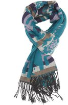 Charlotte Russe Aztec Fringed Oblong Scarf