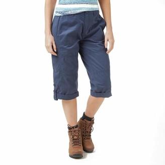 Weird Fish Salena 3/4 Length Trousers Dark Navy Size 8