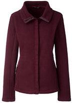 Lands' End Women's 200 Fleece Jacket-Washed Black