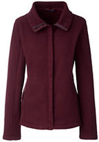 Lands' End Women's Petite 200 Fleece Jacket-Merlot