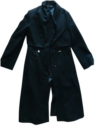 French Connection Black Wool Coat for Women