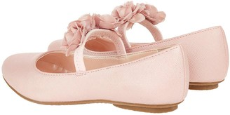 Monsoon Dora Corsage Strap Ballerina Shoes - Pale Pink