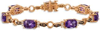 LeVian Le Vian 14K Rose Gold 8.75 Ct. Tw. Diamond & Amethyst Bracelet