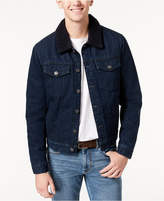 Tommy Hilfiger Men's Midnight Denim Faux Sherpa Jacket