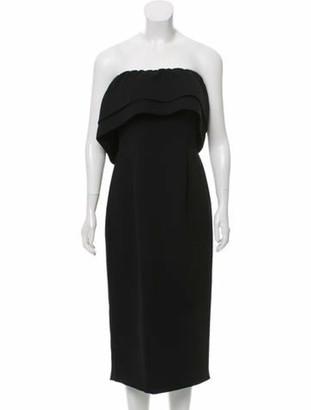 Catherine Regehr Strapless Cocktail Dress Black