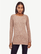 Ann Taylor Marled Crew Neck Tunic Sweater