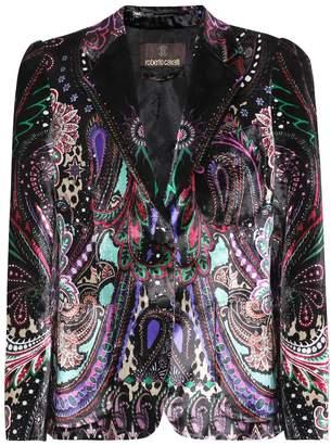 Roberto Cavalli Printed velvet blazer