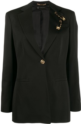 Versace Safety Pin Detail Blazer