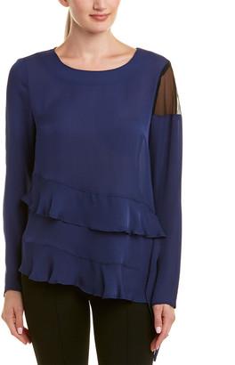 Nicole Miller Artelier Silk Top