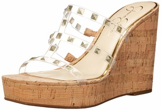 Jessica Simpson Sourie2 Wedge Sandal Clear 9