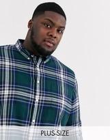 Burton Menswear Big & Tall checked shirt in ginger-Yellow