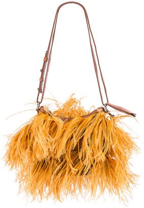 Marques Almeida Marques ' Almeida Feather Bag in Brown | FWRD