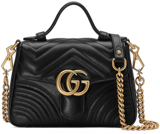 Gucci GG Marmont 2.0 Top Handle Bag in Black   FWRD
