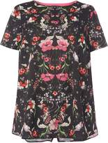 Dorothy Perkins DP Curve Black Floral 2 in 1 TOP