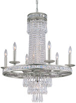 Crystorama Mercer 10-Light Chandelier, Olde Silver