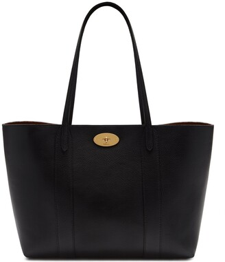 Mulberry Bayswater Tote Black Small Classic Grain