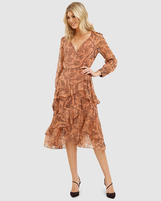 Cooper St Desert Lily Long Sleeve Wrap Dress