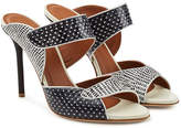 Malone Souliers Olivia High Snakeskin Mules