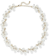 Kenneth Jay Lane Gold-Plated Faux Pearl And Crystal Necklace
