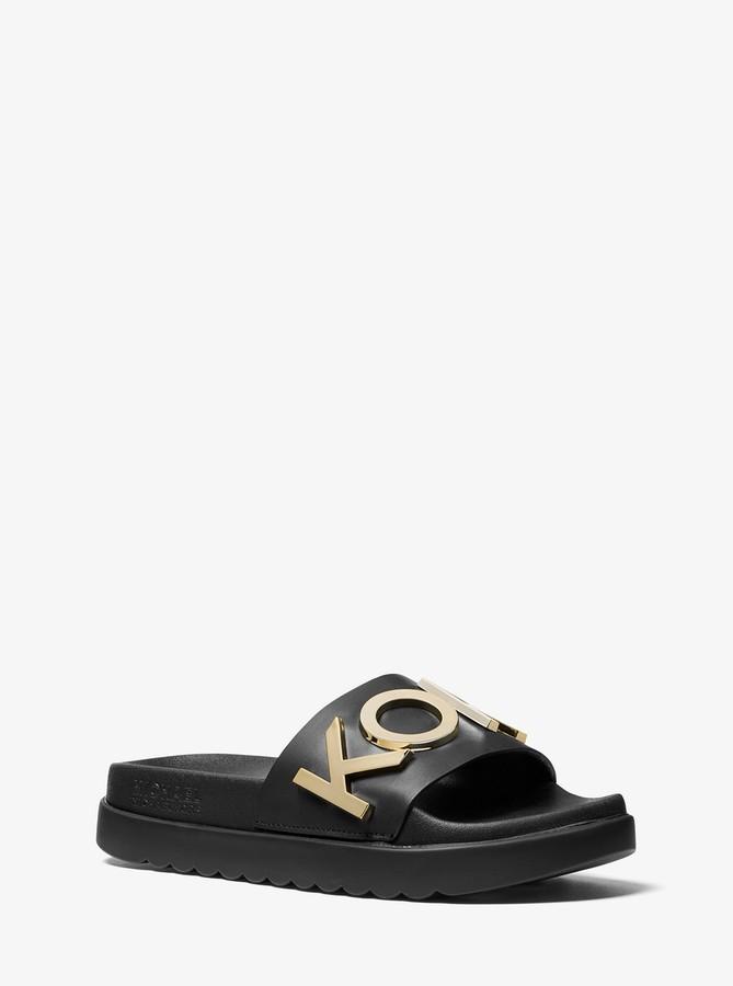 8115a6e063c Cortlandt Embellished Leather Slide Sandal