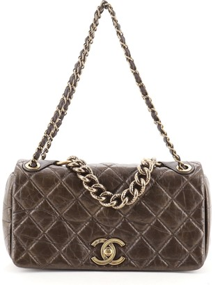 Chanel Pondichery Flap Bag Quilted Aged Calfskin Small