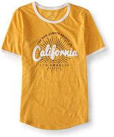 Aeropostale Womens California Ringer Graphic T Shirt