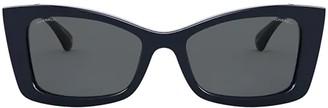 Chanel Rectangular Frame Sunglasses