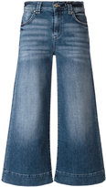7 For All Mankind wide-legged cropped jeans - women - Cotton/Spandex/Elastane - 28