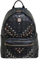MCM Medium Stark Studs Faux Leather Backpack