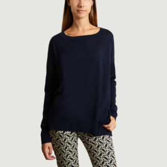 Closed Navy Blue Merino Wool Sweater - s   navy blue   wool - Navy blue