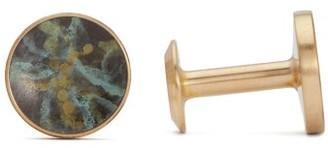 Bailey Alice Made This Sage Brass Cufflinks - Mens - Multi