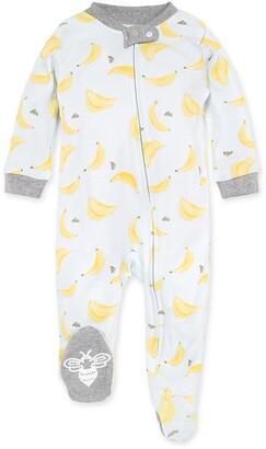 Burt's Bees Crazy Bunch Organic Baby Zip Front Loose Fit Footed Banana Pajamas