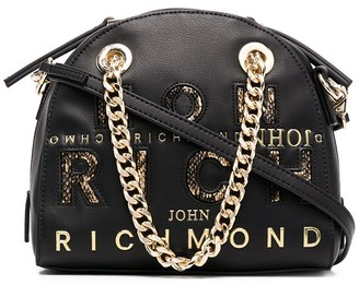 John Richmond Logo-Embossed Chain-Link Tote Bag