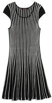 Ella Moss Girls' Textured Stripe Knit Dress - Sizes 7-14