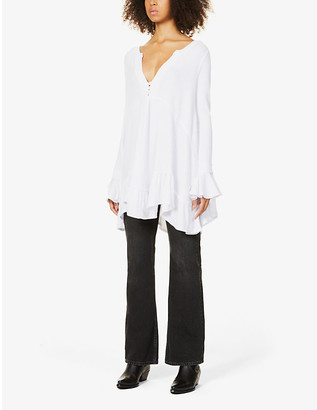 Free People Olivia flared woven blouse