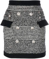 Balmain tweet buttoned mini skirt