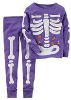 Carter's Baby Girls' Glow-in-the-dark Halloween Pajamas