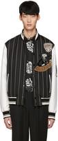 Dolce & Gabbana Black Piano Man Varsity Jacket