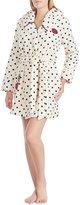 Betsey Johnson Dots & Hearts Plush Robe