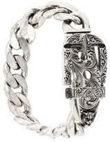 Gucci buckle detail curb chain bracelet